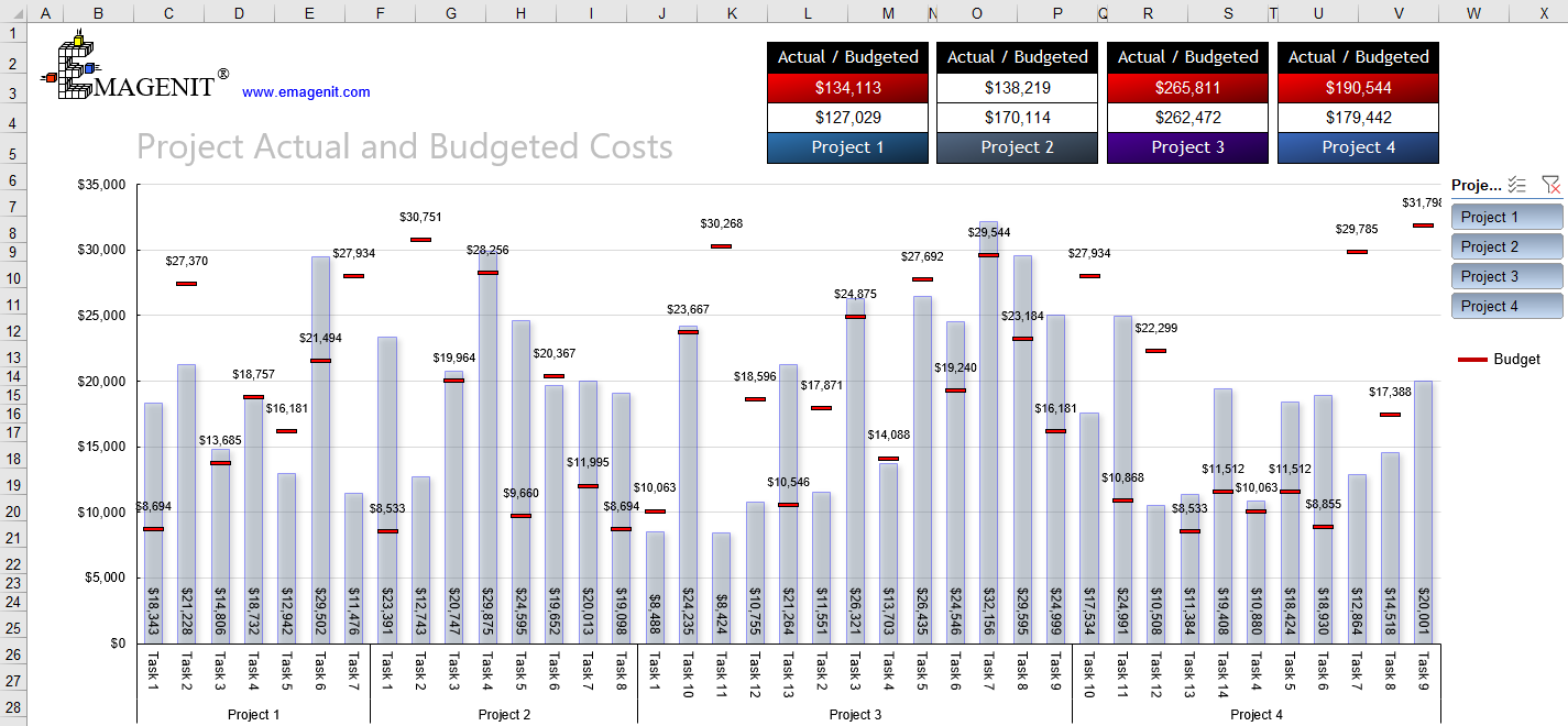 Excel VBA Budget Dashboard Consulting